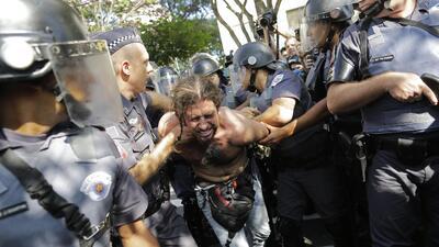 Protestas en Brasil no ceden ante el fútbol