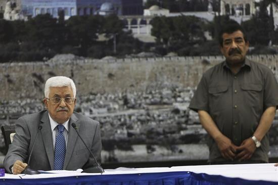 El presidente palestino Mahmud Abás acusó a los colonos ju...