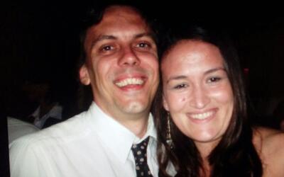 Ana Evans junto a su esposo Hernán Mendoza, quien falleció...
