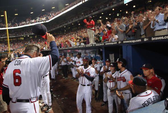 Para el piloto de los Braves, Bobby Cox, ya no habrá más partidos.