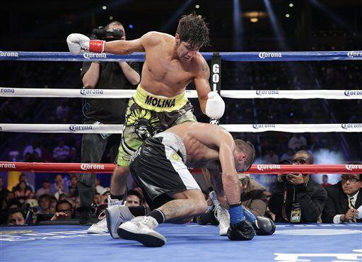 Molina mandó a la lona a Matthysse en el round 2 y 5. El argentino se le...