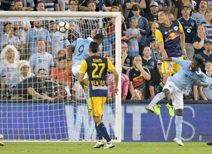 Latif Blessing anota gol final US Open Cup Sporting KC vs. NY Red Bulls