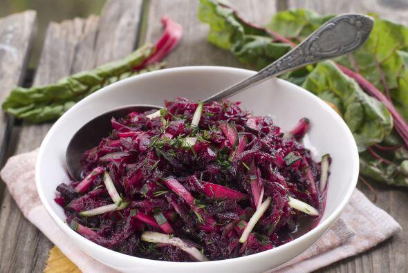 Crudo (rallado) en ensaladas con zanahoria, pepino, col rizada, rabanito...