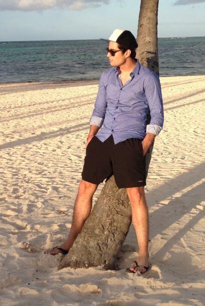 La playa del hotel Meliá Caribe Tropical estaba muy tranquila y Danilo l...