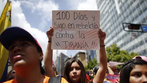 Las protestas contra el gobierno de Maduro cumplieron 100 días.