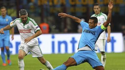 El cuadro interista no pudo abrir el marcador ante elSaint-Etienne.