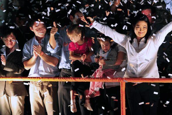 Por su parte, Keiko Fujimori dijo a sus seguidores que 'puedo decir con...