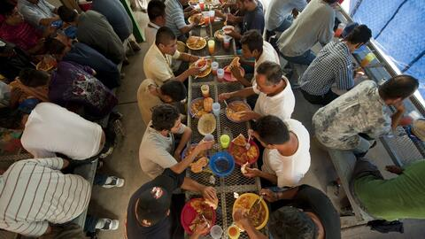 Comedor para deportados de la Iniciativa Fronteriza Kino en Nogales, Son...