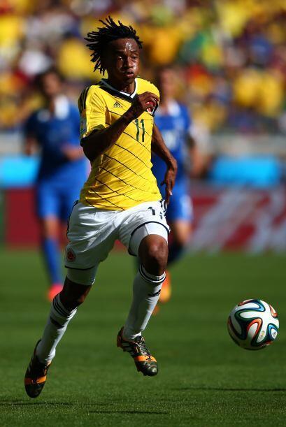 Cuadrado también le dio lucidez y velocidad al ataque colombiano.