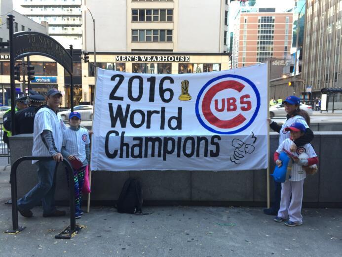 Ambiente por el triunfo de los Cubs
