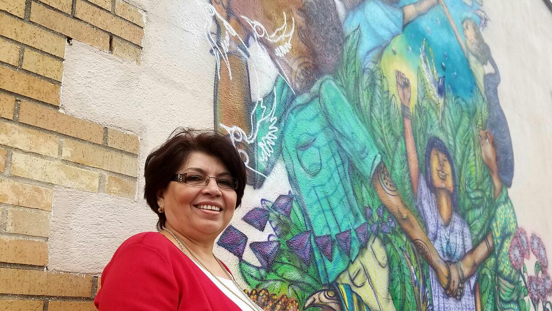 María M. Hernández se asentó en Long Island, una de las nuevas zonas lat...