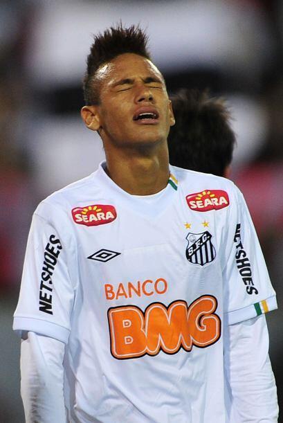 El que no pudo festejar como el Cruzerio y el Inter fue el Santos de Ney...
