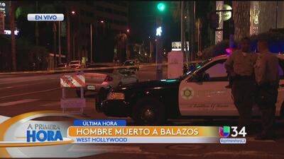 Investigan tiroteo en West Hollywood