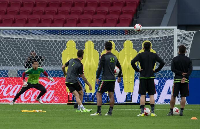 El 'Tri' ya pisó el terreno del Kazan Arena donde espera ganarle a Portu...