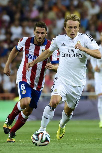 Ni el croata Luka Modric podía descifrar la muralla del Atlético.