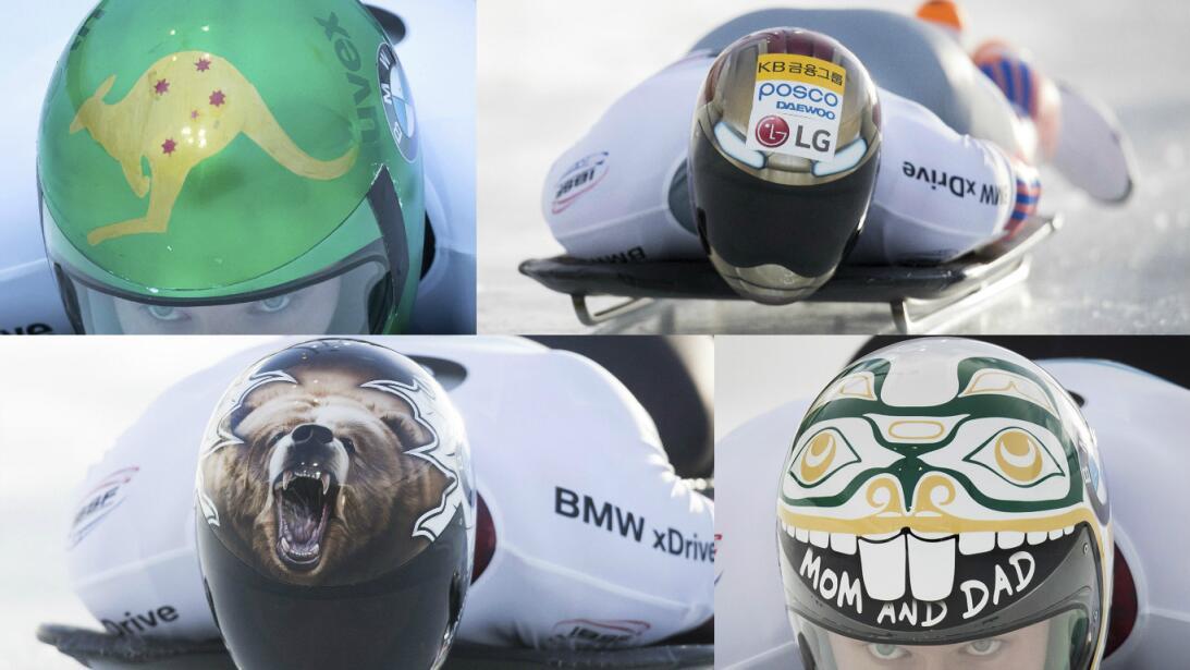 Espectaculares cascos en la Copa Mundo de skeleton en Canadá AP-primera.jpg