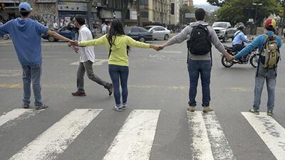 Bloqueos en las calles de Venezuela