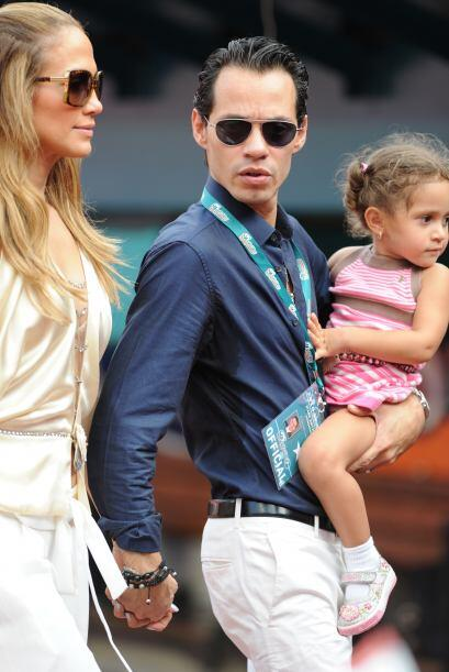 Jennifer Lopez y Marc Anthony siempre llevaban consigo a sus pequeños....