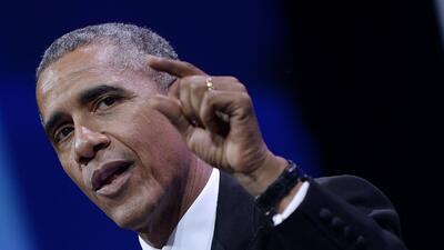El Presidente Barack Obama pronuncia un discurso en el cierre de la asam...