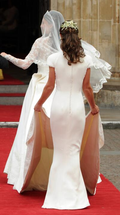 Pippa Middleton  en la boda de Kate y William