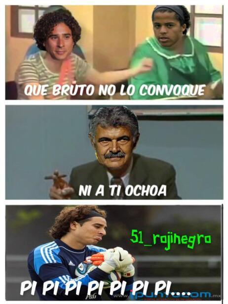 Giovani dos Santos, Jonathan dos Santos y Guillermo Ochoa no fueron cons...