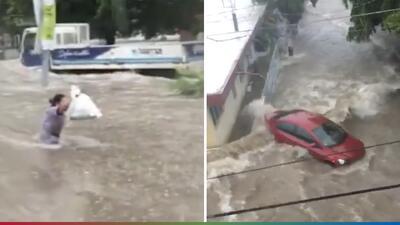 Impresionantes videos muestran los daños causados por las tormentas en Sinaloa y Sonora