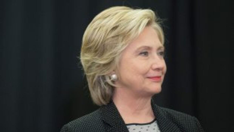La exsecretaria de Estado de EEUU, Hillary Clinton.