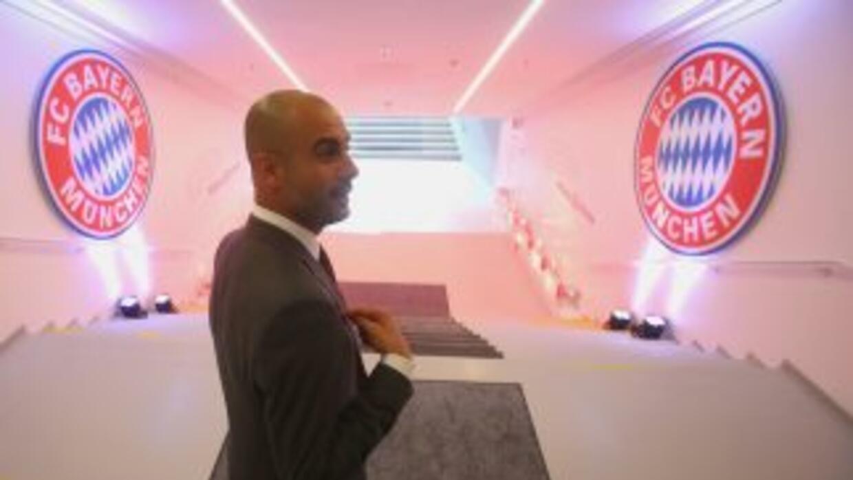Pep ya conoció las instalaciones del Bayern, pero la afición del club se...