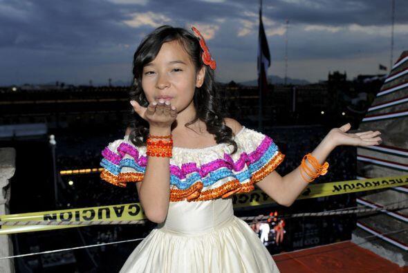 Y les mandó un cariñoso besos desde el corazón de México.