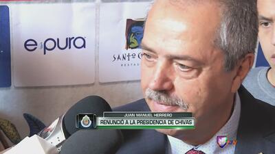 Juan Manuel Herrero renunció a la Presidencia de Chivas