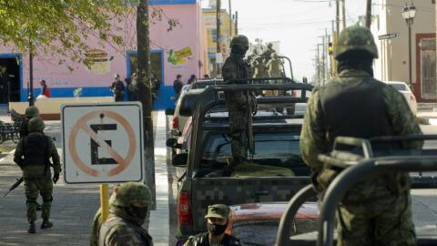 Elementos de la Marina de México realizan un operativo en el estado fron...