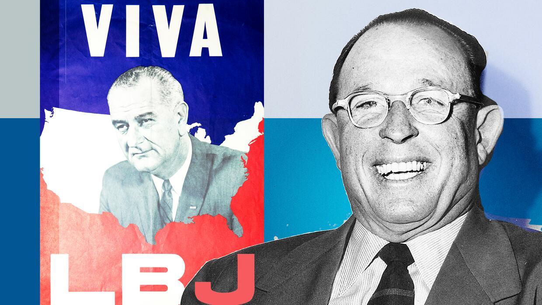 El expresidente Lindon B. Johnson debe buena parte del éxito de su carre...