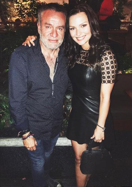 Irina Baeva y el Productor José Alberto Castro.