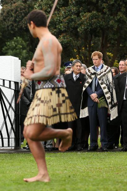 También fue recibido con una ceremonia de conchas.