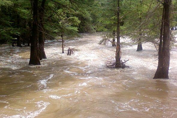 La crecida del río y las inundaciones causaron cierres y demoras en el t...