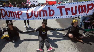 Ahora la estrategia de los activistas antiTrump plantea interrogantes