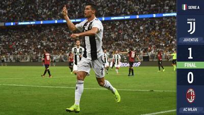 Con un gol suyo, Cristiano logra su primer título con la Juventus