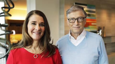 Melinda y Bill Gates, líderes de la fundación con su apell...