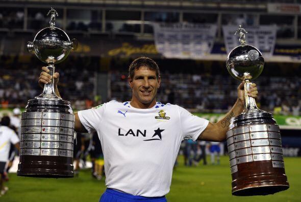 Acompañado de sus trofeos y de grandes amigos, Martín Pale...