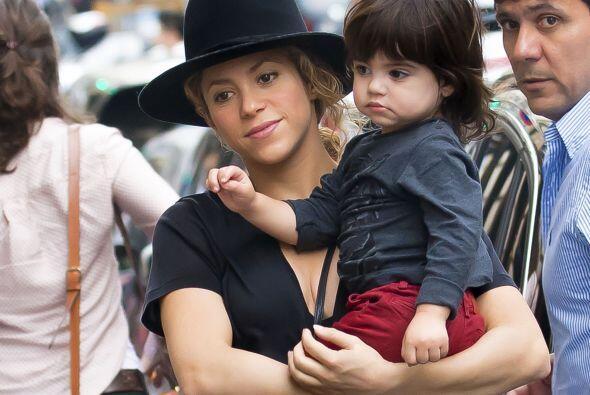 Pero esta vez estaba acompañado de su pequeño Milan.