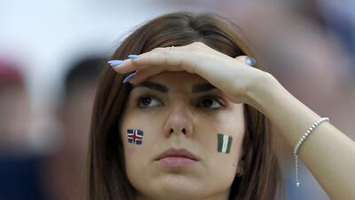 Las fanáticas islandesas fueron protagonistas en el Volgograd Arena