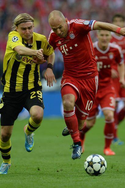 La segunda parte comenzó con el Bayern más ofensivo.