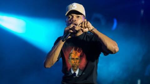 Chance The Rapper peforms on stage on the first day of the 'Wireless Fes...