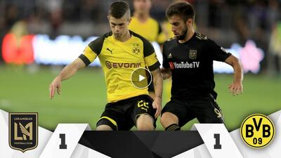 El LAFC estuvo muy cerca de vencer al poderoso Borussia Dortmund de Alem...
