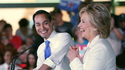 Secretary Julian Castro and candidate Hillary Clinton