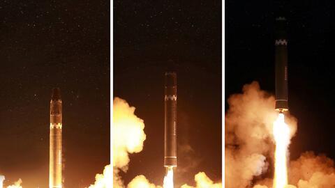 La agencia norcoreana de noticias KCNA facilitó una serie de foto...