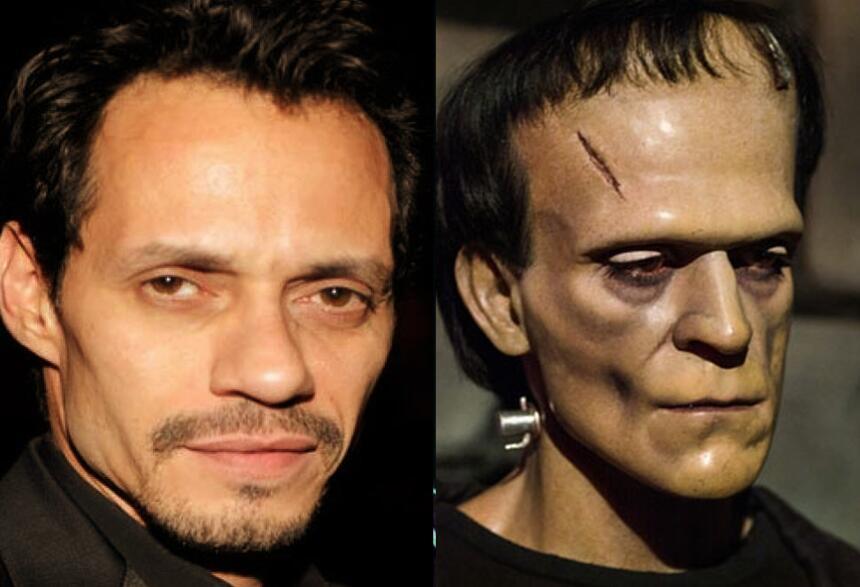 10 famosos que no necesitaron disfraz por su rostro fantástico o terrorí...