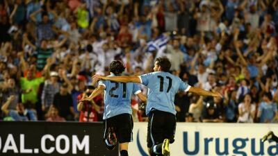 Cristian Stuani marcó el gol de Uruguay
