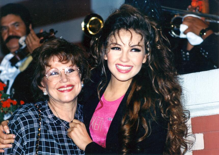Thalía y su mamá
