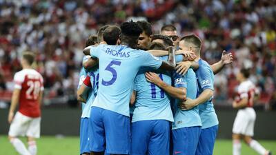 En fotos: Atlético de Madrid venció en penaltis al Arsenal tras empatar en torneo amistoso